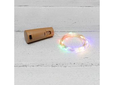 Гирлянда «Роса» с пробкой 2 м, 20 LED, цвет свечения мультиколор, 3хLR44 в комплекте NEON-NIGHT