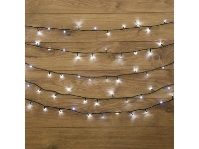 """Гирлянда """"Твинкл Лайт"""" 4 м, темно-зеленый ПВХ, 25 LED, цвет белый"""