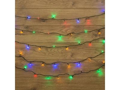 "Гирлянда ""Твинкл Лайт"" 6 м, темно-зеленый ПВХ, 40 LED, цвет мультиколор"