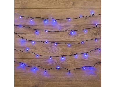 """Гирлянда """"Твинкл Лайт"""" 15 м, темно-зеленый ПВХ, 120 LED, цвет синий"""