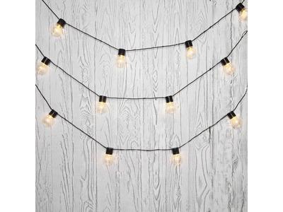 Лофт-гирлянда светодиодная 5 м, черный ПВХ, 20 LED, теплое белое свечение NEON-NIGHT