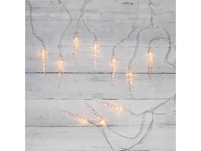 Гирлянда «Сосульки» 1,5х0,25 м, прозрачный провод, теплый белый цвет свечения NEON-NIGHT