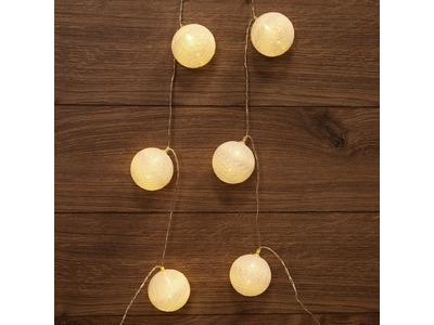 Тайские фонарики «Пломбир» 1.5 м, 10 LED, прозрачный ПВХ, цвет свечения теплый белый, 2 х АА (батарейки не в комплекте) NEON-NIGHT