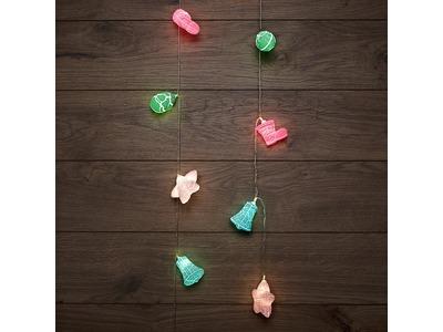 Гирлянда светодиодная «Новый год» 1,5 м, прозрачный ПВХ, 10 LED, теплый белый, питание 2 х АА (батарейки не в комплекте)