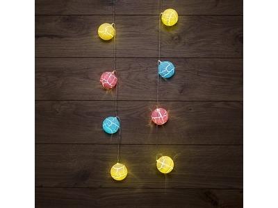 Гирлянда светодиодная «Карамельки» 1.5 м, прозрачный ПВХ, 10 LED, теплый белый, питание 2 х АА (батарейки не в комплекте)