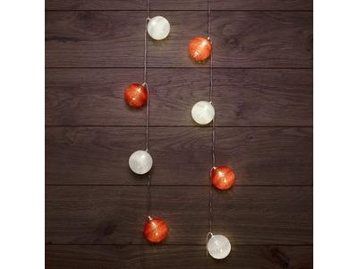 Тайские фонарики «Магия» 3,5 м, прозрачный ПВХ, 20 LED, теплый белый, питание 2 х АА (батарейки не в комплекте)
