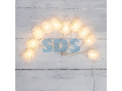 Гирлянда светодиодная «Шишки» 1.5 м, 10 LED, прозрачный ПВХ, цвет свечения теплый белый, 2 х АА (батарейки не в комплекте) NEON-NIGHT
