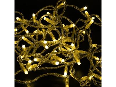 Гирлянда Нить 10м, постоянное свечение, прозрачный ПВХ, 230В, цвет: Жёлтый