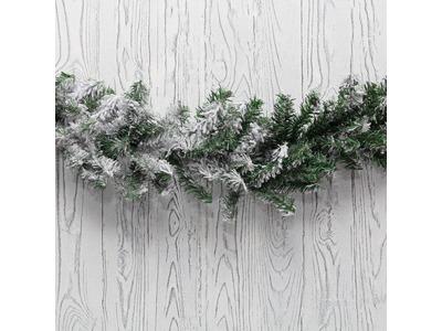 Заснеженный еловый шлейф NEON-NIGHT 2.7 м, Ø 26 см, ПВХ