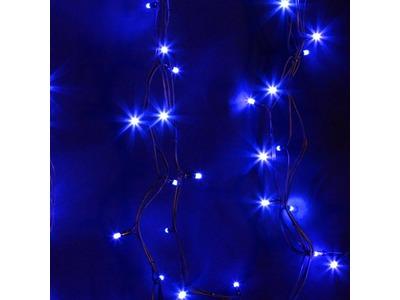 """Гирлянда модульная """"Дюраплей LED"""" 20м 200 LED черный каучук Синий"""