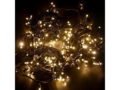 "Гирлянда модульная ""Дюраплей LED"" 20м 200 LED черный каучук , мерцающий ""Flashing"" (каждый 5-й диод), ТЕПЛЫЙ БЕЛЫЙ"