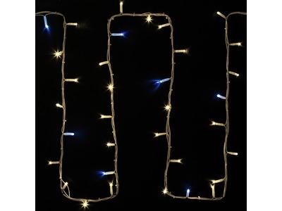 "Гирлянда модульная ""Дюраплей LED"" 20м 200 LED белый каучук , мерцающий ""Flashing"" (каждый 5-й диод), ТЕПЛЫЙ БЕЛЫЙ"