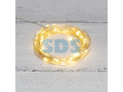 Гирлянда «Роса» 5 м, 50 LED, USB, теплое белое свечение NEON-NIGHT