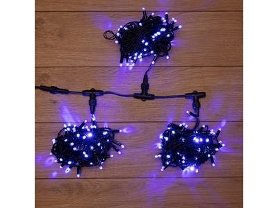 """Гирлянда """"LED ClipLight"""" 24V, 3 нити по 10 метров, цвет диодов Синий"""