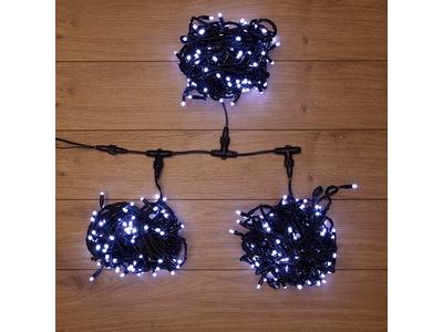 """Гирлянда """"LED ClipLight"""" 24V, 3 нити по 10 метров, цвет диодов Белый"""