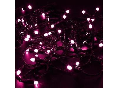 """Гирлянда """"LED ClipLight"""" 24V, 5 нитей по 20 метров, цвет диодов Розовый"""