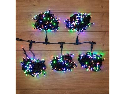 """Гирлянда """"LED ClipLight"""" 24V, 5 нитей по 20 метров, цвет диодов Мульти"""