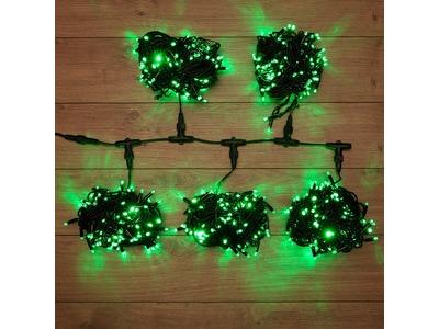 """Гирлянда """"LED ClipLight"""" 24V, 5 нитей по 20 метров, цвет диодов Зеленый, Flashing (Белый)"""