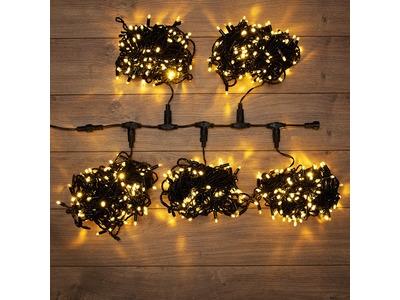"""Гирлянда """"LED ClipLight"""" 24V, 5 нитей по 20 метров, цвет диодов ТЕПЛЫЙ БЕЛЫЙ, Flashing (Белый)"""
