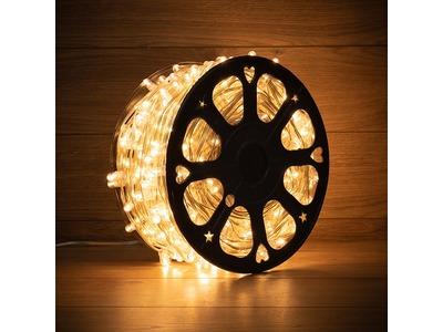 Гирлянда «LED Клип-лайт» 12 V, прозрачный ПВХ, 150 мм, цвет диодов теплый белый
