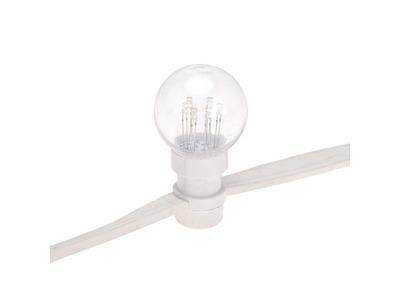 Гирлянда LED Galaxy Bulb String 10м, белый КАУЧУК, 30 ламп*6 LED ЖЕЛТЫЕ, влагостойкая IP65