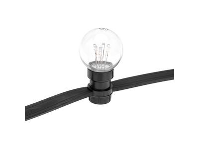 Гирлянда LED Galaxy Bulb String 10м, черный КАУЧУК, 30 ламп*6 LED БЕЛЫЕ, влагостойкая IP65
