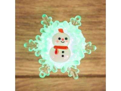 """""""Снеговик на снежинке"""" RGB 5,5*5,5 см"""