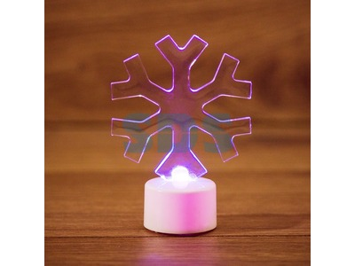 """Фигура светодиодная на подставке """"Снежинка"""", RGB"""