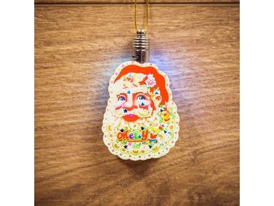 "Фигурка подвесная ""Санта Клаус"" RGB 8*6 см"