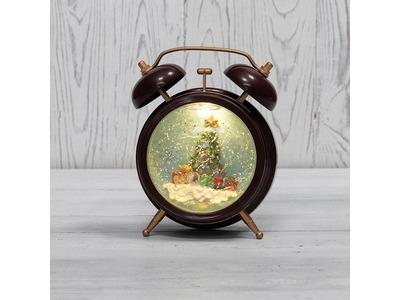 Декоративный светильник «Часы» с эффектом снегопада NEON-NIGHT