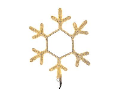 "Фигура ""Снежинка"" цвет ТЕПЛЫЙ БЕЛЫЙ, размер 45*38 см NEON-NIGHT"