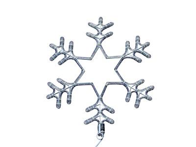 """Фигура световая """"Снежинка"""" цвет белый, размер 55 см, мигающая (2В с контроллером) NEON-NIGHT"""