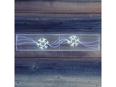 "Фигура световая ""2 снежинки"" размер 250*50см NEON-NIGHT"