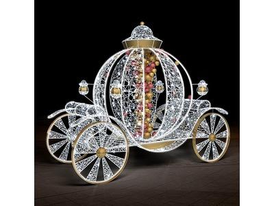 Декоративная декорация Карета из сказки 280 см (цвет на выбор)