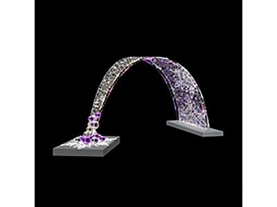 Декоративная декорация Снеговики на лыжах 250 см (цвет на выбор)