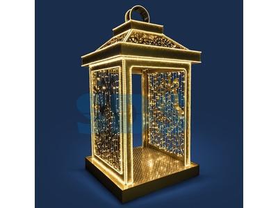 Декоративная 3D фигура Спираль 150 см (на фото 2 симметричные спирали)