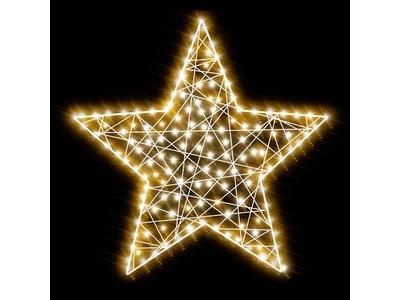 Декоративная 2D фигура Звезда-1 80 см (цвет на выбор)