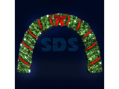 Декоративная арка Рождество 500 см (цвет на выбор)