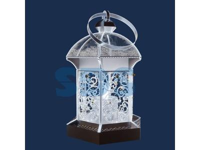 Декоративная 3D фигура Ангел объемный с трубой 170 см