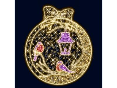 Декоративное панно Снегири 238 см (цвет на выбор)