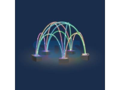 Декоративный фонтан Хвост павлина 500 см
