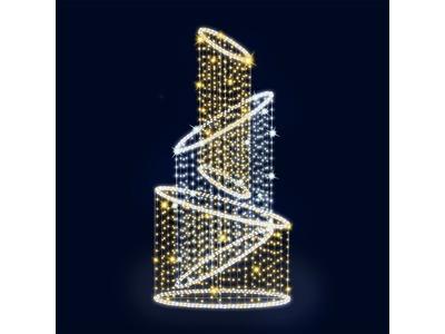 Декоративный фонтан Кольца 400 см (цвет на выбор)
