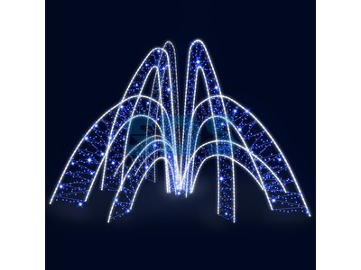 Декоративный фонтан Волны (цвет на выбор)