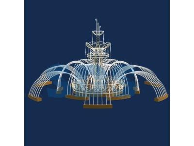 Декоративный фонтан Каскад 320 см (цвет на выбор)