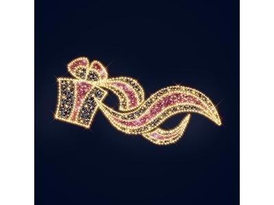 Декоративное панно Подарок 200 см (цвет на выбор)