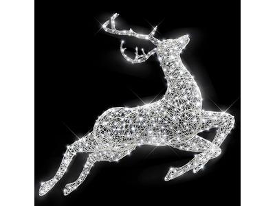 Декоративная 3D фигура Лесной олень в прыжке 195 см (цвет на выбор)