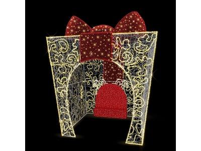 Декоративная фотозона Подарок с бантом 500 см (цвет на выбор)