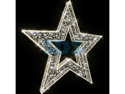 Декоративная 3D фигура Звезда-1 c отверстием 150 см (цвет на выбор)