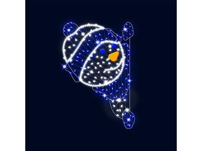 Декоративная 2D фигура Снеговик выглядывающий 190 см (цвет на выбор)