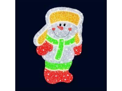 Декоративная 2D фигура Снеговик веселый 100 см (цвет на выбор)